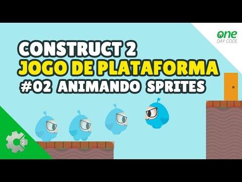 🎮 Como Criar Um Jogo De Plataforma (Animação de Sprites 2D) - Tutorial Construct 2 #02