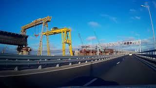 КРЫМСКИЙ МОСТ ноябрь 2018 + железнодорожный мост!