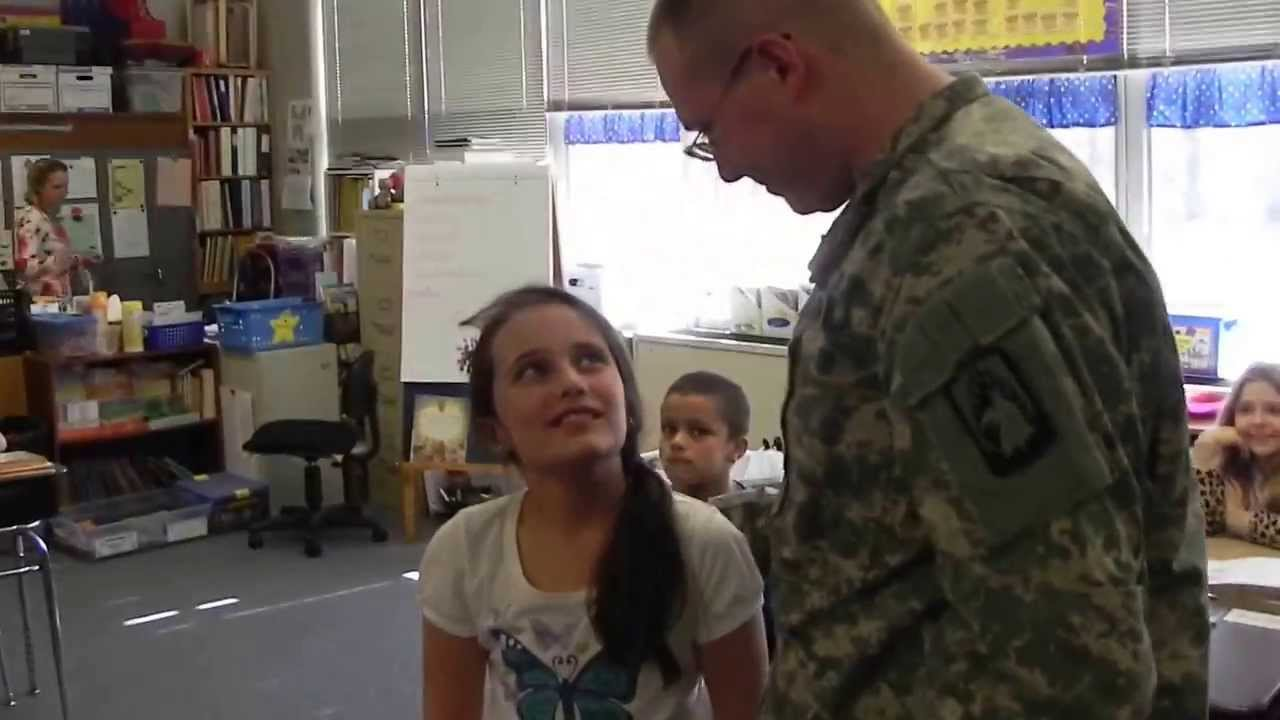 big brother home from u.s. army surprises little sister - youtube