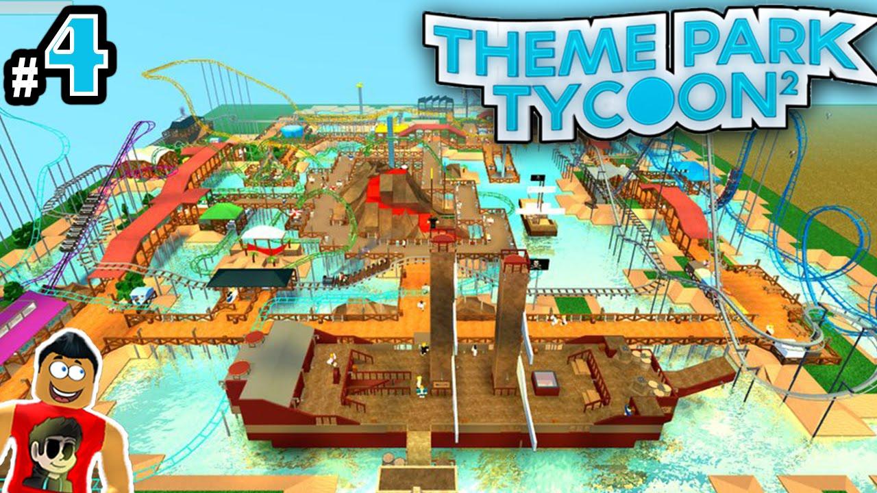 Theme Park Tycoon! Ep  4: LETS BUILD COOLEST PARK EVER!! | Roblox
