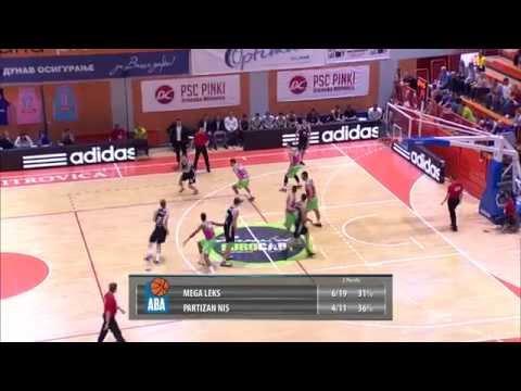 ABA Liga 2015/16, Round 2 match: Mega Leks - Partizan NIS (4.10.2015)