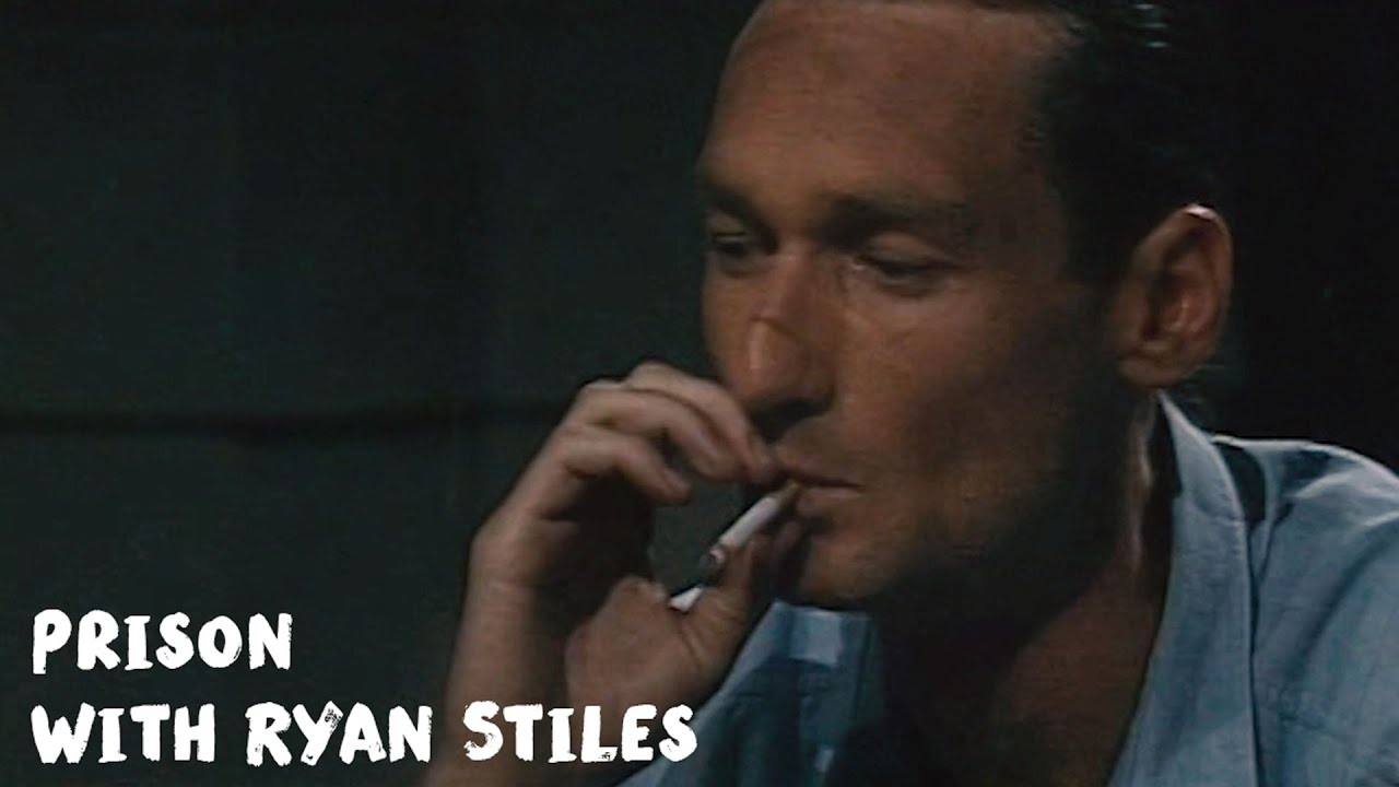 Ryan Stiles smoking a cigarette (or weed)