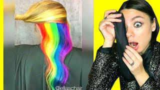 Цветные Волосы Уровня БОГ Профессиональное Преображение Волос