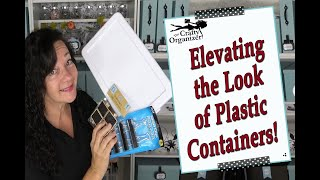 Elevating the look of plastic containers