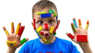 Lego Hands Canción Infantil   Canciones Infantiles con Alex y Nastya