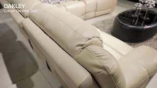 OAKLEY Leather Corner Recliner Sofa