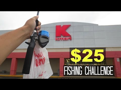 $25 Kmart Fishing Challenge!! (Surprising!)