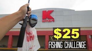 $25 Kmart Fishing Challenge!! (Surprising!)