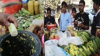How To Make Green Banana Recipe kacha kola vorta Hard working man selling Tasty food @ Tk 20 per cup