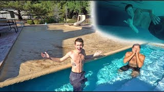 SWIMMING UNDER THE COVER CHALLENGE!