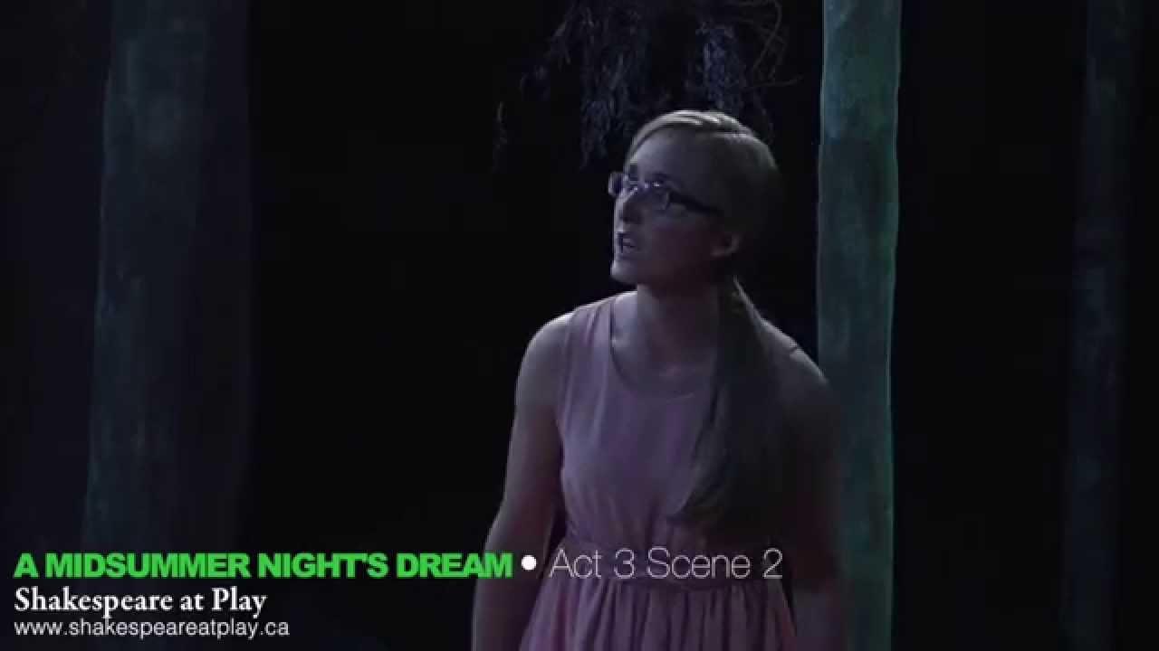 A Midsummer Night S Dream Act 3 Scene 2 Youtube