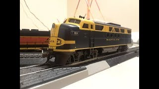 The Blue Lightning EZ Train Set ho scale short video