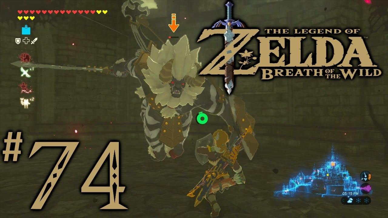 Zelda Breath Of The Wild Playthrough Part 74 Hyrule Castle Pt 2 Mini Boss Lynel Youtube