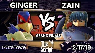 The Script 2 - Zain (Marth) Vs. Ginger [L] (Falco) - Smash Melee Grand Finals