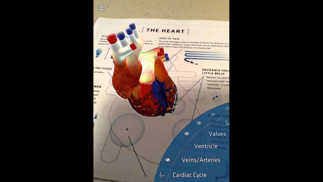 New Update to DAQRI\'s Anatomy 4D App-The Heart Target - YouTube