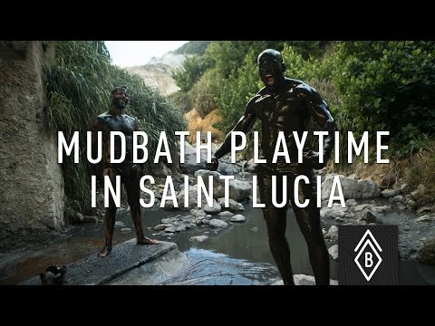 Time to play in the mud in Saint Lucia!