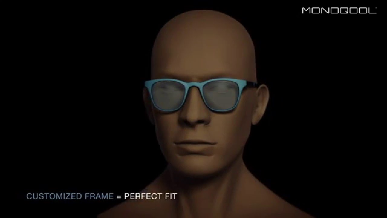 3d printed and customized eyewear by Monoqool in Denmark - YouTube