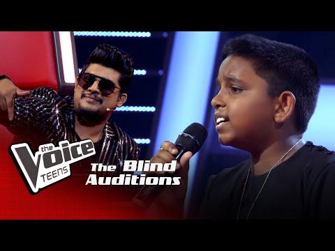 Gathsara Risinu   Punchi Puthe (පුංචි පුතේ)   Blind Auditions  The Voice Teens Sri Lanka