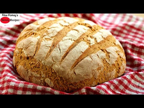 BREAD: No Sugar/No Oil Whole Wheat Bread In 5 Minute Prep Time -Artisan Brown Bread - Skinny Recipes