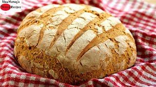 BREAD: No Sugar/No Oil Whole Wheat Bread In 5 Minute Prep Time -Artisan Brown Bread - Skinny Recipes