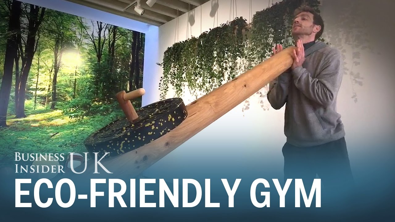 Inside a london gym that looks like a giant forest youtube