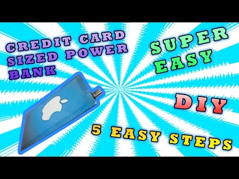 Credit Card Sized Customized Power Bank I Make Yourself at home I DIY Project