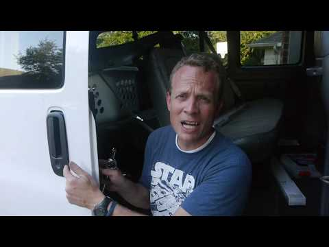 How to replace the handle on a sliding door of a 2007 Chevy Express Van
