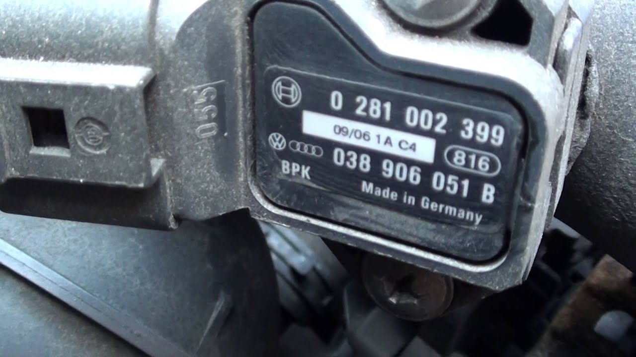 Vw Jetta Map Sensor Location Video Youtube