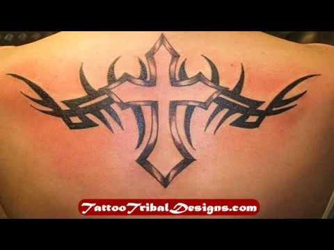 Tribal Cross Tattoo Designs YouTube