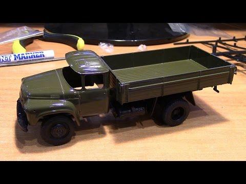 видео: Сборка масштабной модели автомобиля ЗиЛ 130 ssm