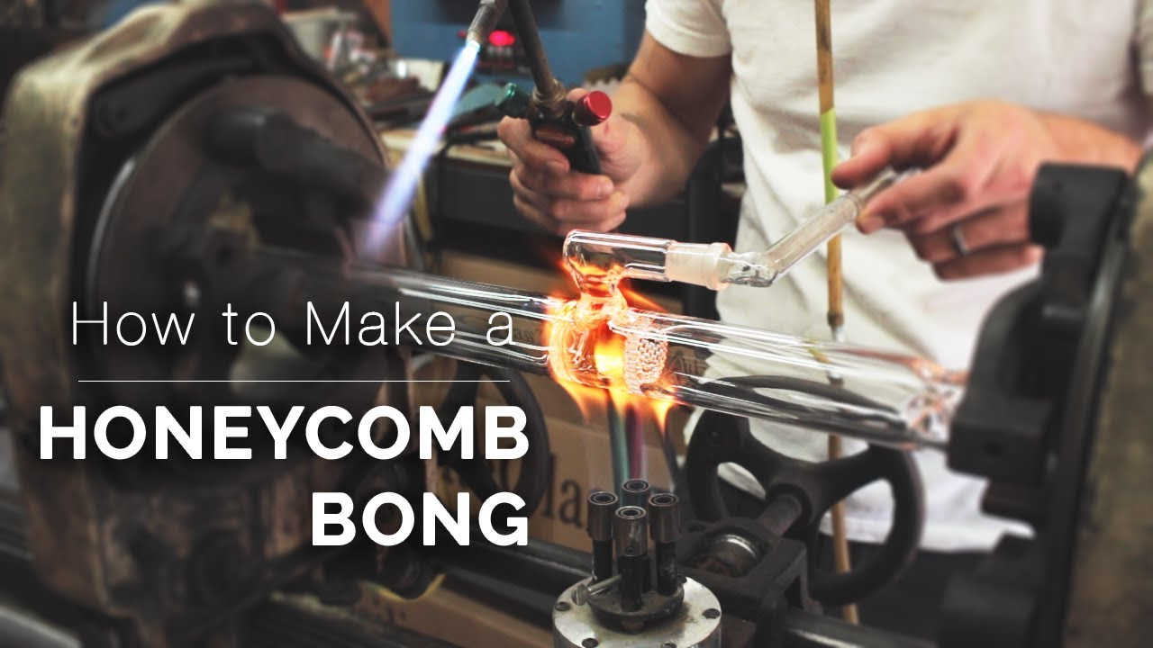 How to Blow Glass Pipes, Bongs, Bubblers, and More by Purr - Honeycomb Bong
