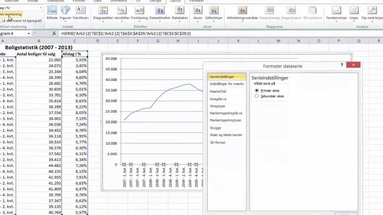 Excel tips og tricks excel diagram med sekundaer akse youtube excel tips og tricks excel diagram med sekundaer akse ccuart Images