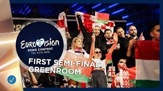 Emotions in the greenroom during the First Semi-Final of the 2019 Eurovision Song Contest