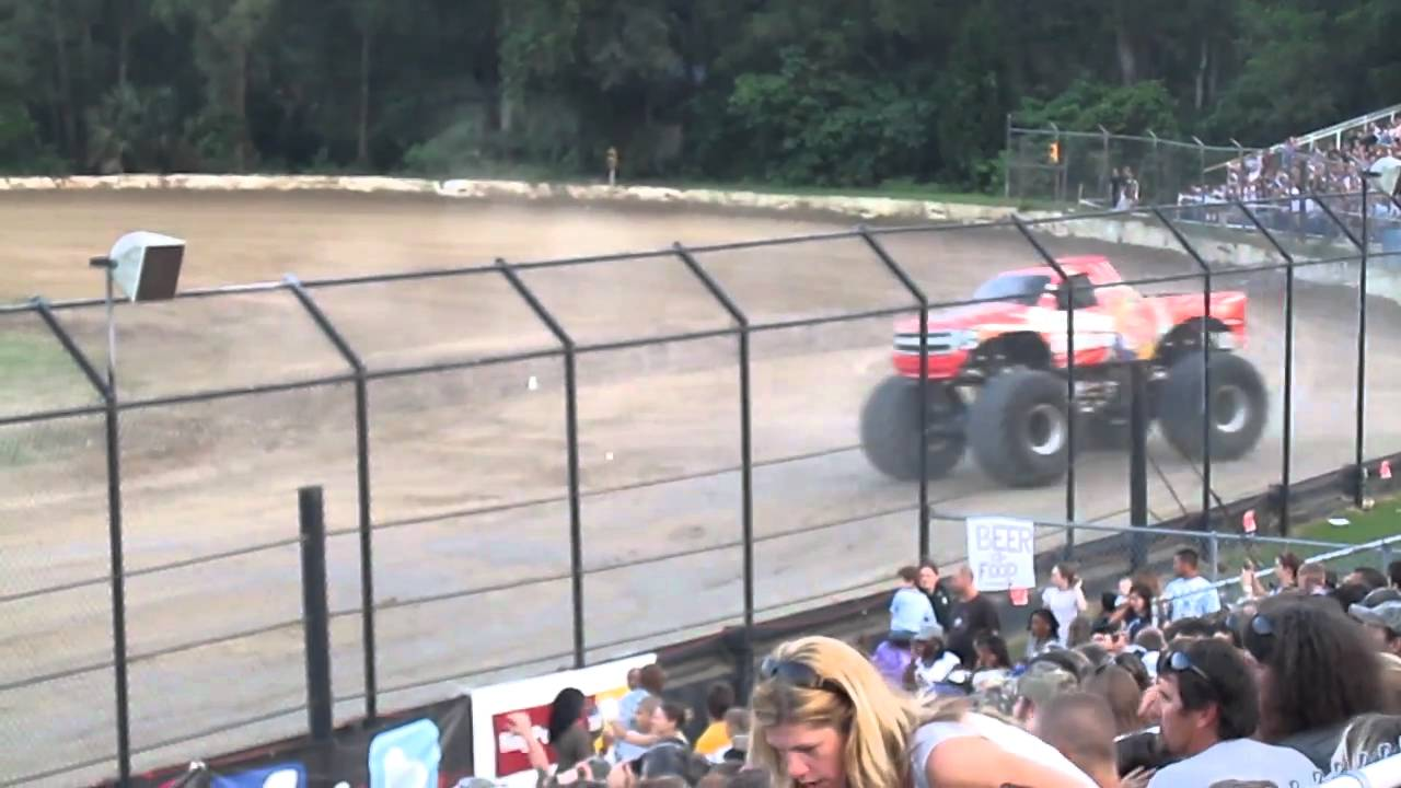 Monsterjam Comes To Ocala Speedway Bubba Raceway Park Youtube