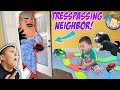 OUR NEIGHBOR BROKE INTO OUR HOUSE! Trespassing Problems + Puppy Takes Shawns Toy  FUNnel Vision Vlog