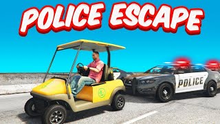 GTA 5 Roleplay - GOLF CART Police ESCAPE!