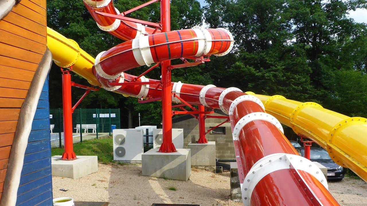 Rote Kinder Röhrenrutsche :: Riesenrutsche | Camping Franceloc Lu0027hirondelle  Oteppe [NEU 2017]