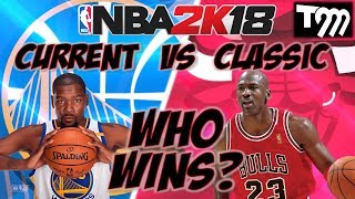 NBA 2K18 WARRIORS vs CLASSIC BULLS GAMEPLAY - DURANT vs JORDAN!!