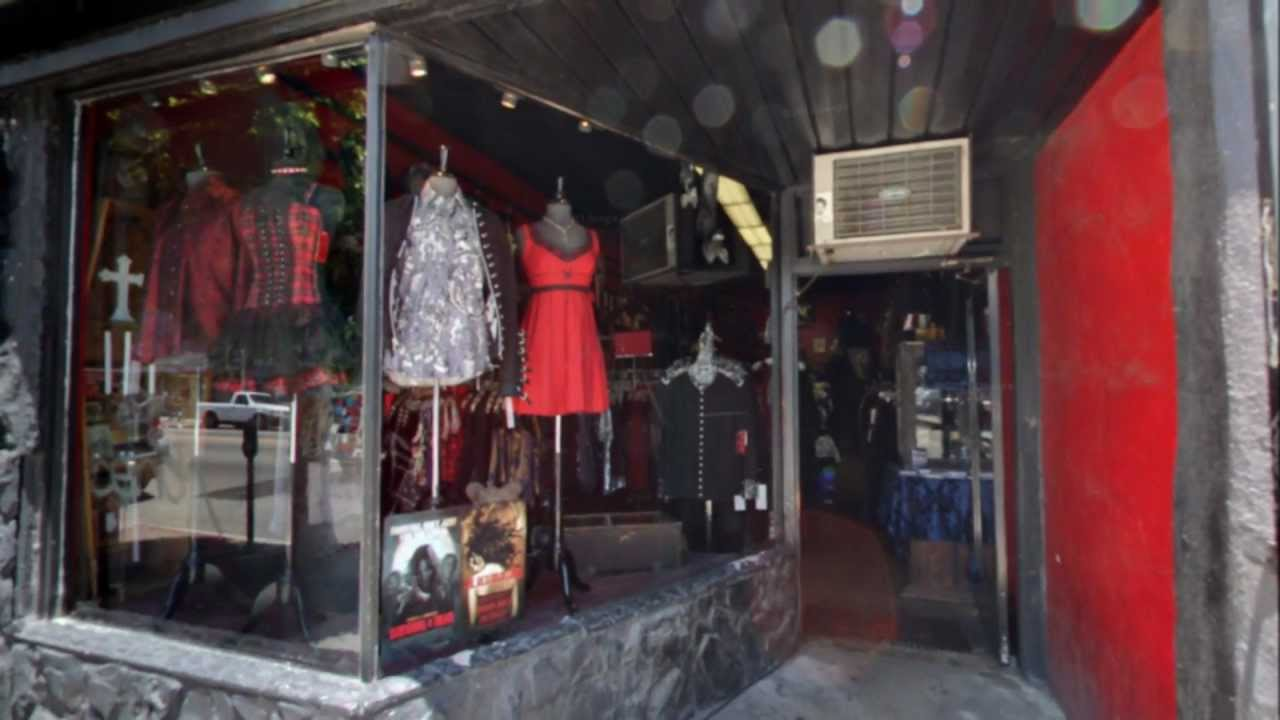 shrine gothic clothing store hollywood ca youtube. Black Bedroom Furniture Sets. Home Design Ideas