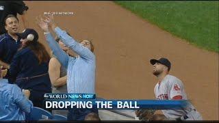 Yankees Fan Botches Catching Three Foul Balls