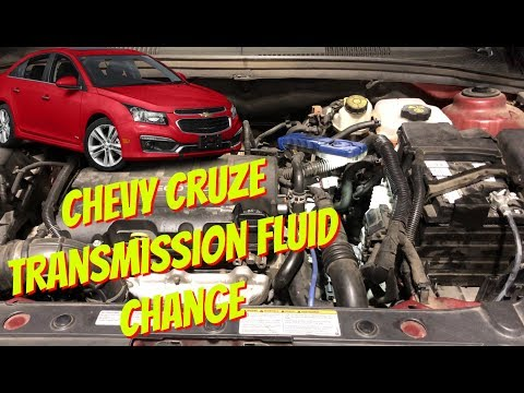 CHEVY CRUZE ATF TRANSMISSION FLUID LEVEL CHECK, CHANGE OR TOP OFF