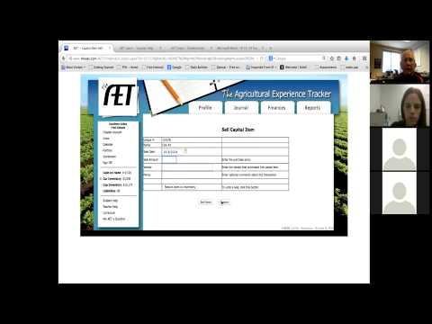 Tutorial on how to use AET for Ag Ed and FFA Record Keeping