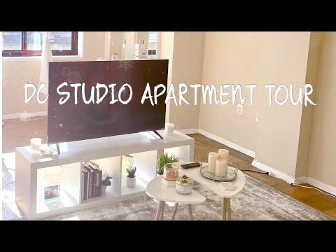 WASHINGTON, DC STUDIO APARTMENT TOUR (550 sq ft)