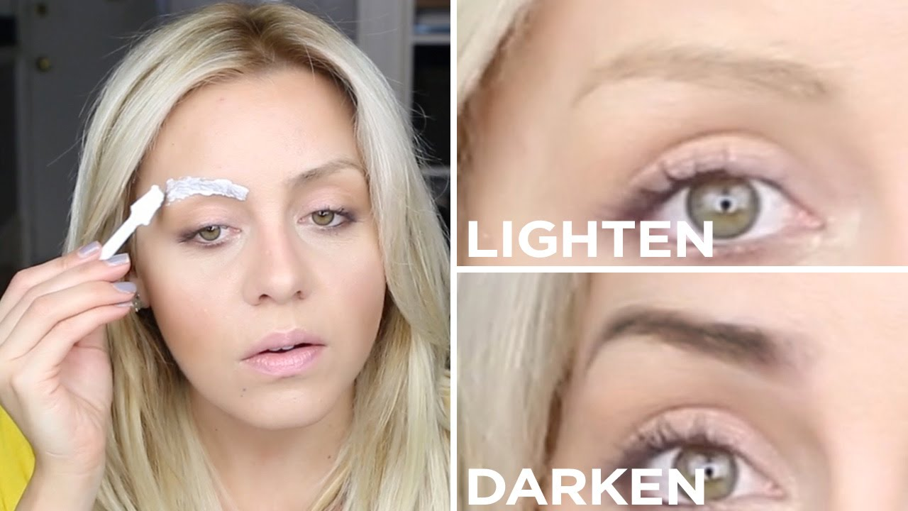 Diy How To Lighten Or Darken Your Eyebrows The Salon Method Youtube