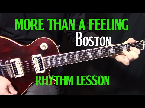 "how to play ""More Than a Feeling"" by Boston - electric guitar rhythm lesson"