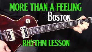 """how to play """"More Than a Feeling"""" by Boston - electric guitar rhythm lesson Mp3"""