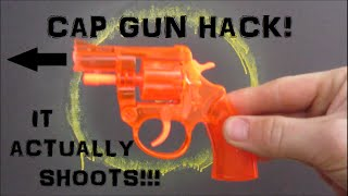 CAP GUN HACK!!! SpitWad Shooter! TOY (Actually Working)