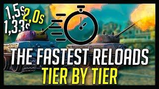 ► The Fastest Reloading Tanks in World of Tanks
