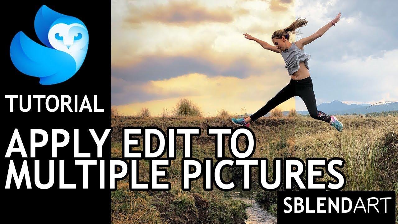 enlight Quickshot photo editor tutorial - Apply edit to muliple images