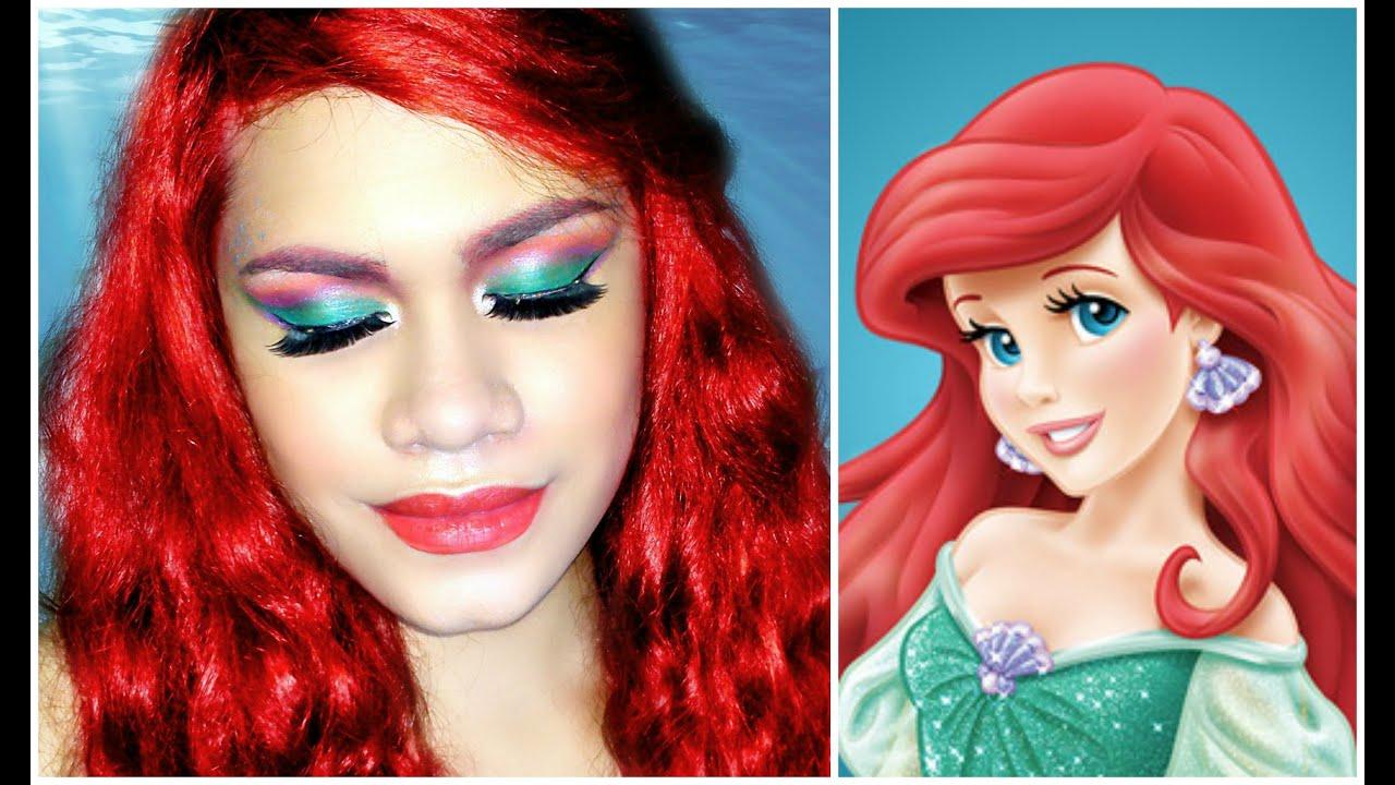 Little mermaid makeup tutorial dope2111 decorativestyle disney princess the little mermaid ariel makeup tutorial baditri Images